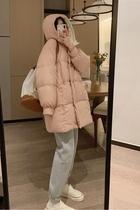 大被子2020新款连帽加厚减龄韩版宽松中长款羽绒服女冬VEEE行走