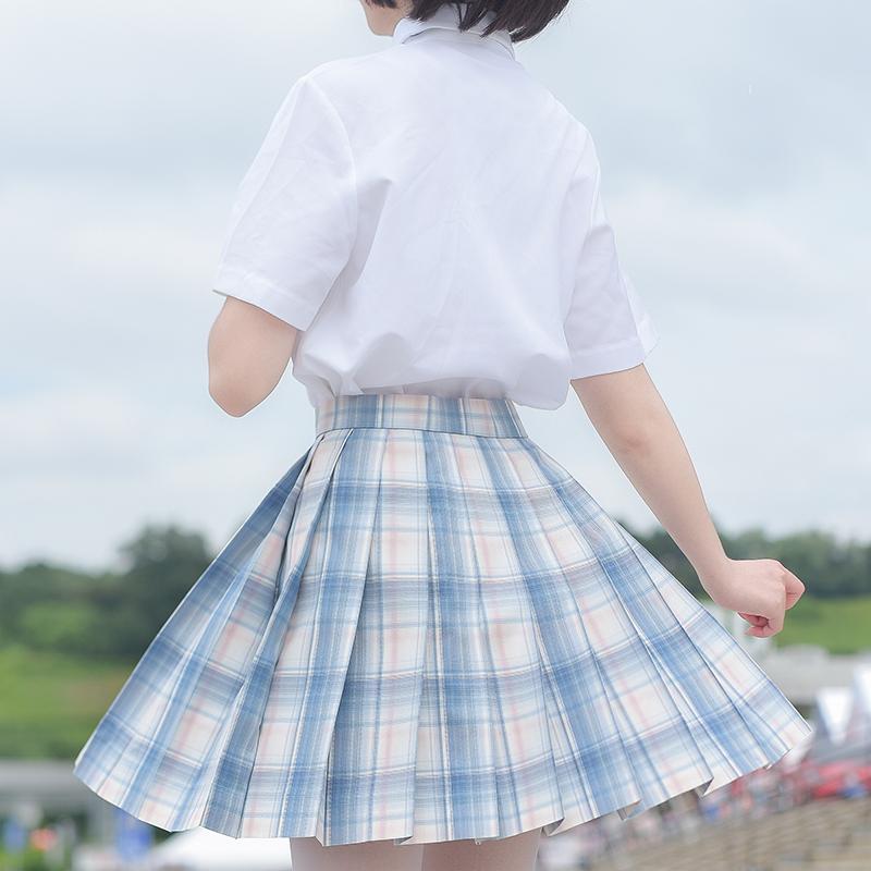 【XiXi】蜜桃云朵 原創JK制服 百褶裙 少女格裙