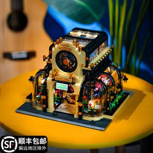 乐高MOC建筑植物园树屋灯光街景别墅高难度成年拼装 积木玩具模型