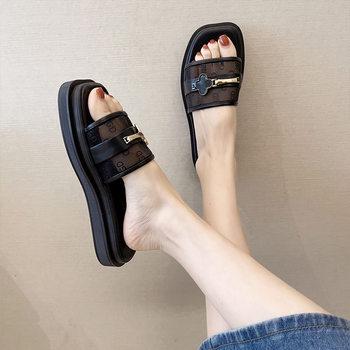 夏季高品质平底凉拖鞋百搭网纱拖鞋女鞋