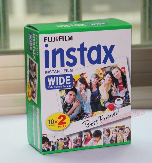 10月21日最新优惠富士fujifilm拍立得相纸宽幅5寸intax wide 200/210/30