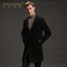 Maleflowers / malenwes winter wool coat men's long wool coat men's business leisure