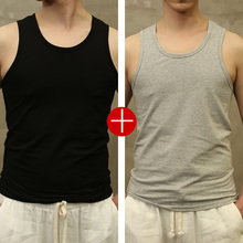 MALEFLOWERS/MALEFLOWERS Men's vest Pure Cotton Summer Tight Sports I-shaped All-cotton Bottom T-shirt
