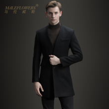 Maleflowers / malenwis 2019 winter new fit woolen overcoat men's long woolen coat