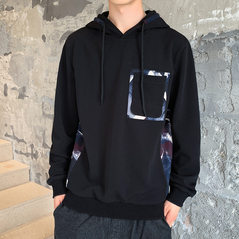 19 autumn new mens casual sweater Korean slim trend youth Hoodie fashion all-around mens wear
