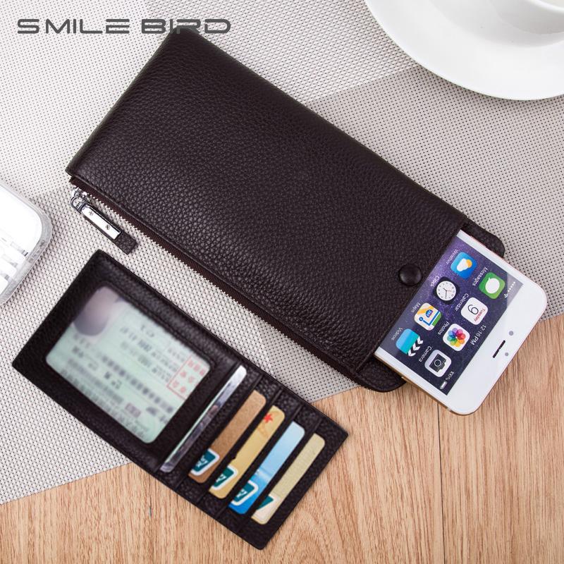 (用70元券)超薄多卡位卡包软男手机钱包一体包真皮拉链长款功能女驾驶证卡夹