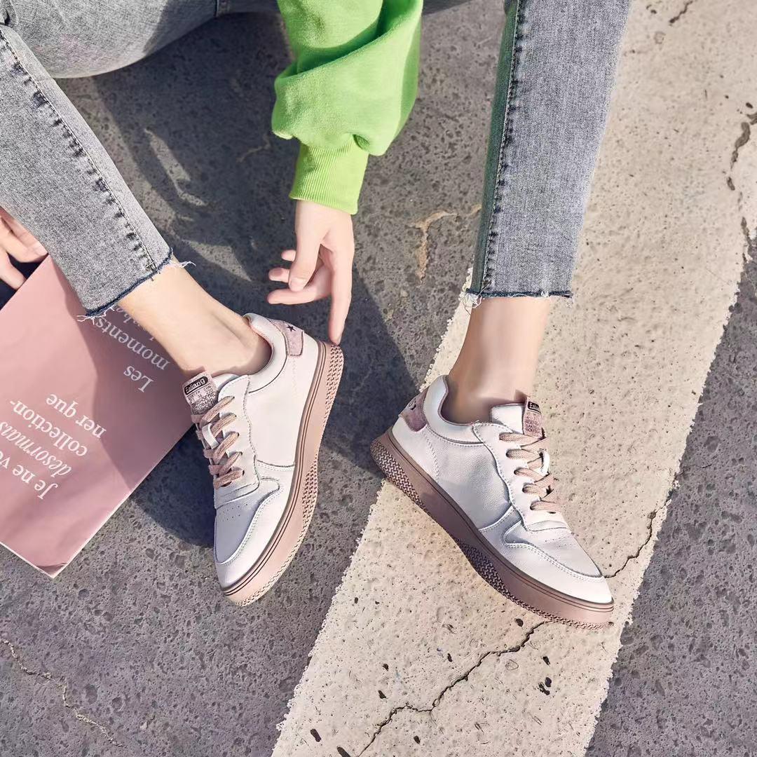 真皮小白鞋女2020新款百搭网红休闲运动鞋板鞋 2018-5