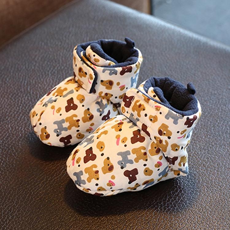 新生婴儿鞋子男0-1岁女软底不掉学步鞋冬季加厚保暖棉鞋宝宝秋冬