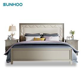 双虎家私欧式风格1.8米双人美式床