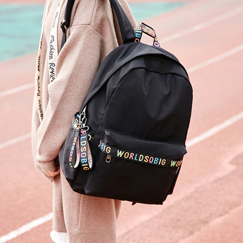 Schoolbag for junior and senior high school students schoolbag for female students Korean campus fashion simple backpack for college students Canvas Backpack