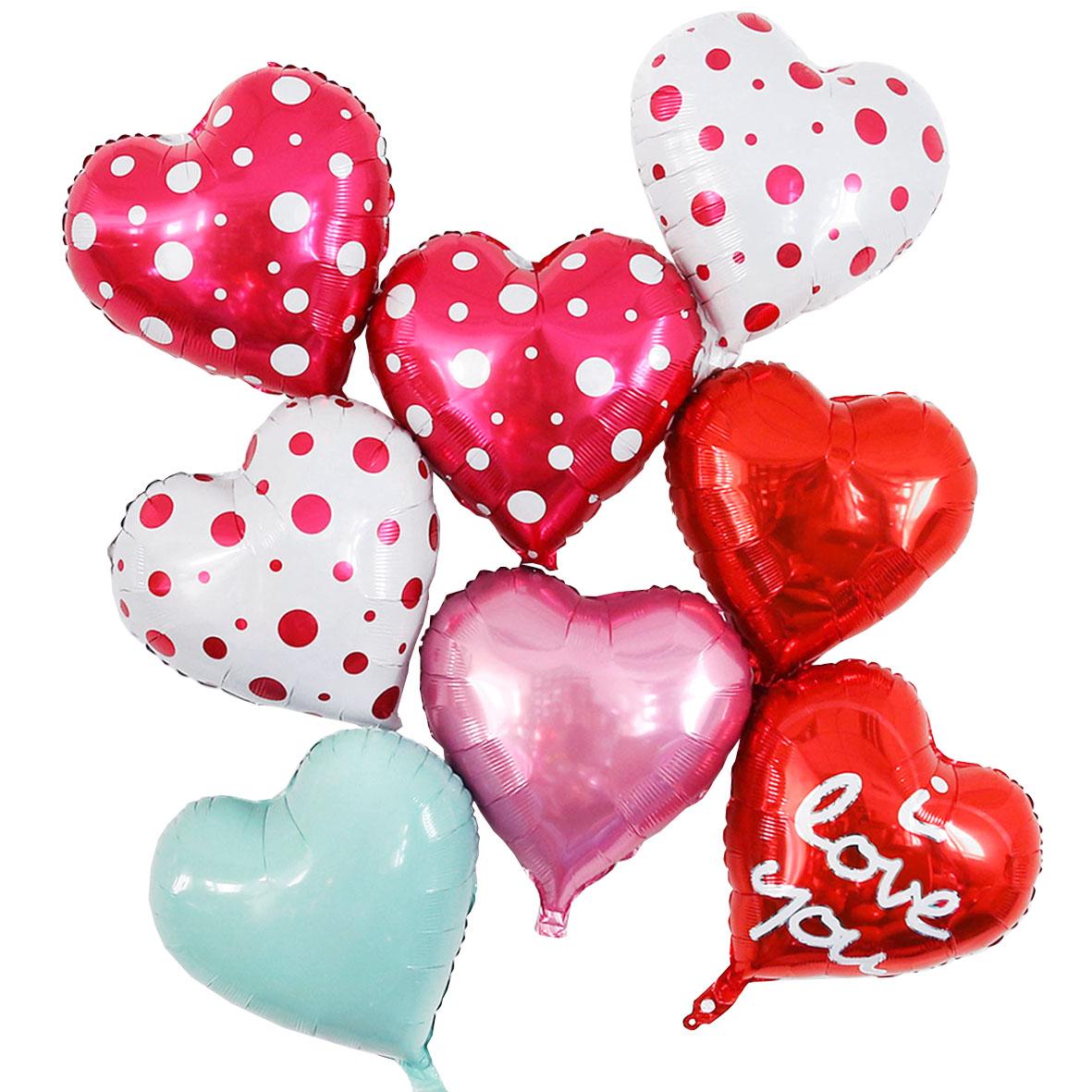 婚礼结婚婚房婚庆布置用品儿童满月周岁生日派对爱心气球多款多色