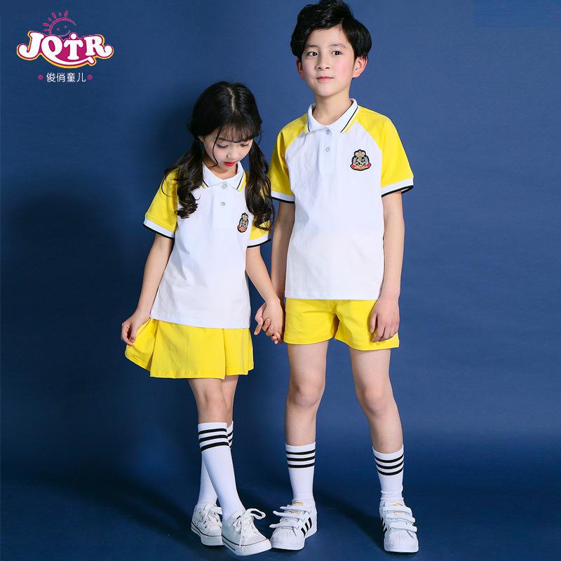 小學生校服 服套裝夏裝兒童短袖服裝英倫風班服幼兒園 園服