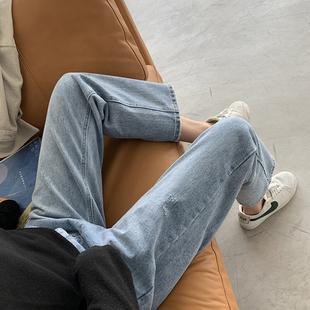 胖妹妹2020秋装新款大码女装适合胯宽大腿粗的裤子宽松牛仔裤潮