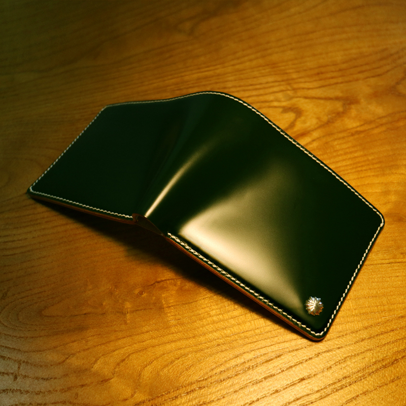 四季 日本新禧复古马臀皮钱包 手工真皮财布简约短款男士钱夹定制