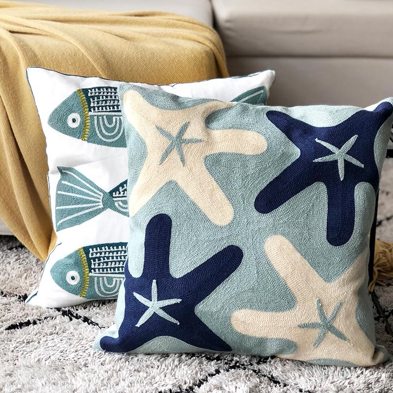 Moi king 北欧ins风海洋系列卡通抱枕套 可爱儿童靠枕腰靠靠垫