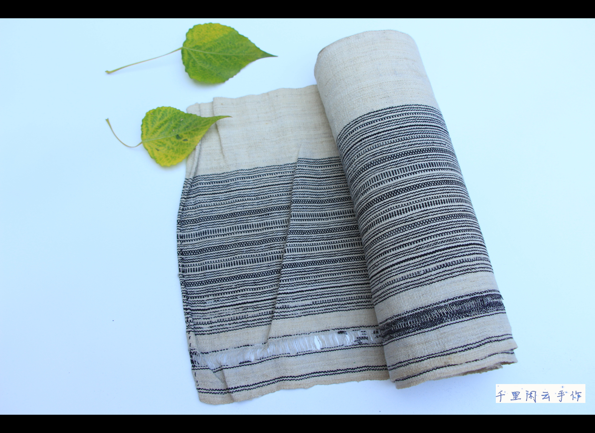 Меньше количество народ ремесла руки ремесла мешковина спин ткачество ручной работы земля ткань старый ткань объем микшировать спин полоса мешковина C25