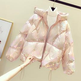 亮面短款棉衣女韩版2020冬季新款外套厚面包服炫彩羽绒棉服潮ins