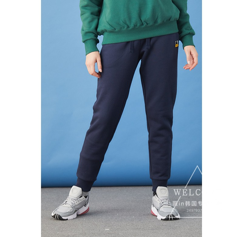 pancoat专柜正品韩国代购男女同款加绒休闲裤2色PPONIPT01U