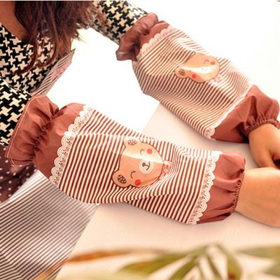 5件包邮 防水可爱家用长款套袖防油防污清洁护袖居家厨房