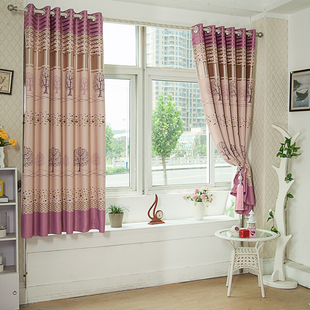 More than a simple curtain curtain living room bedroom bay window two meters short half-curtain curtain thick blackout curtains finished fabrics custom