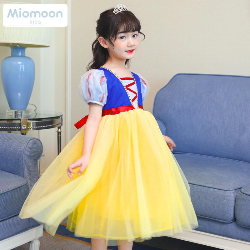 女童连衣裙儿童蓬蓬纱裙爱沙白雪公主裙爱莎2020新款裙子夏款洋气
