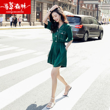 New Kind of Workwear Joint Shorts Female Summer 2019 Thin Korean version of high waist, loose size show slim feeling broad legs pants