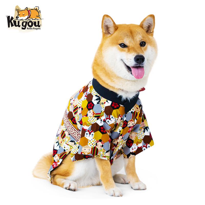 Hello kugouは日本から輸入した日本式柴犬柯基のVIPペットの犬ファッションブランドの浴衣を独自に注文しました。