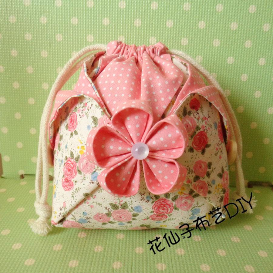 Ткань ручной работы DIY конечный продукт цветение вишни чаевые / узкая гавань сумка цена один конечный продукт разнообразие необязательный