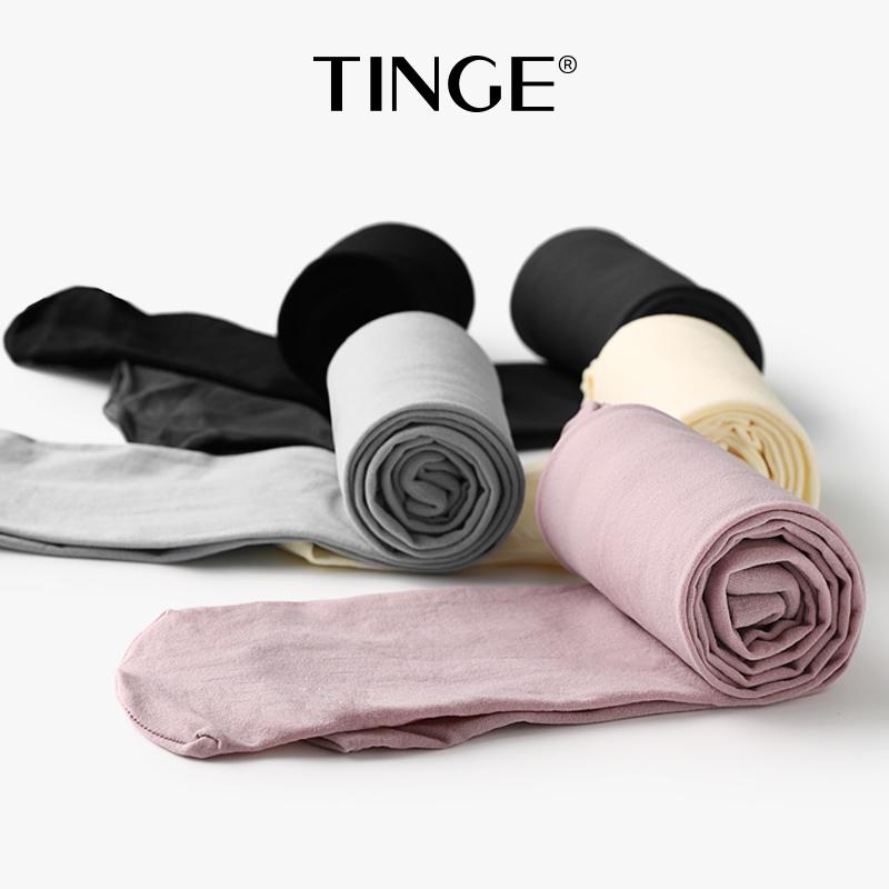 tinge3双显瘦腿春秋黑色微压连裤袜(用40.9元券)