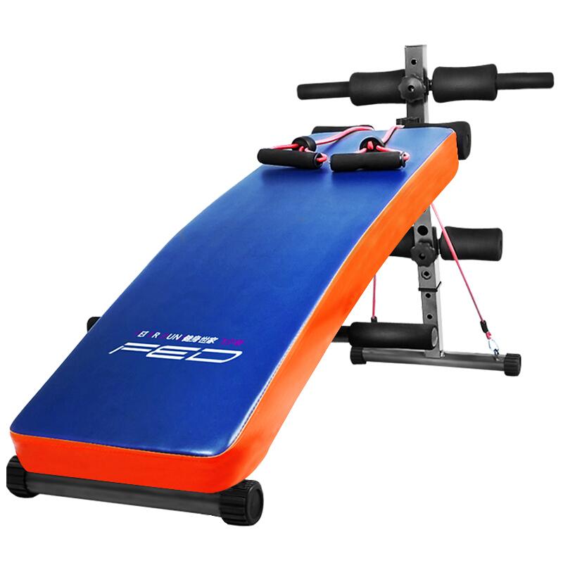 飞尔顿健身器材家用仰卧起坐板牵引绳收腹器运动辅助器多功能健腹