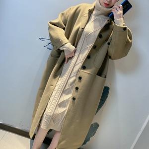 领200元券购买双面羊绒大衣女外套秋冬新款2020