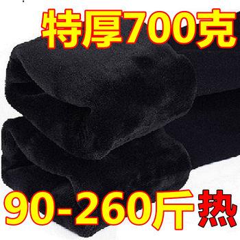200斤胖mm冬季加肥加大码打底裤
