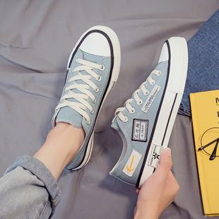 帆布鞋男低帮韩版潮流百搭休闲板鞋男夏季透气网红学生鞋子男潮鞋品牌
