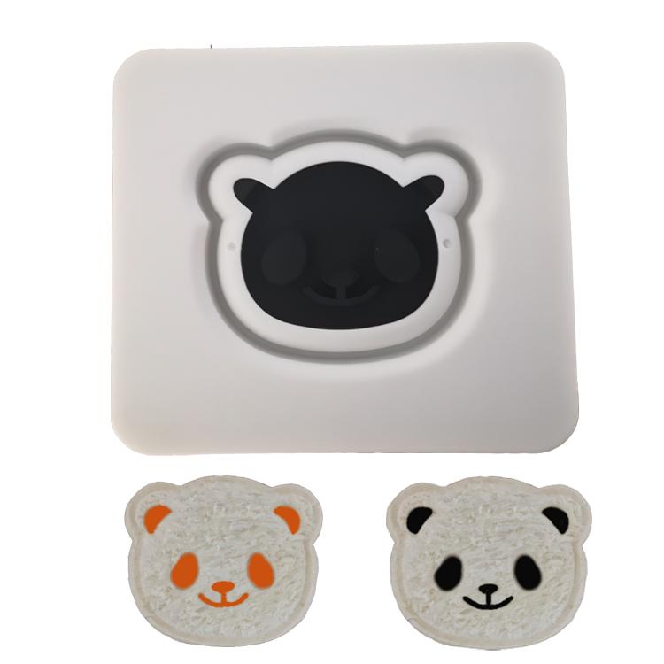 熊猫三明治制作器 微笑考面包机吐司盒西点心口袋面包模具