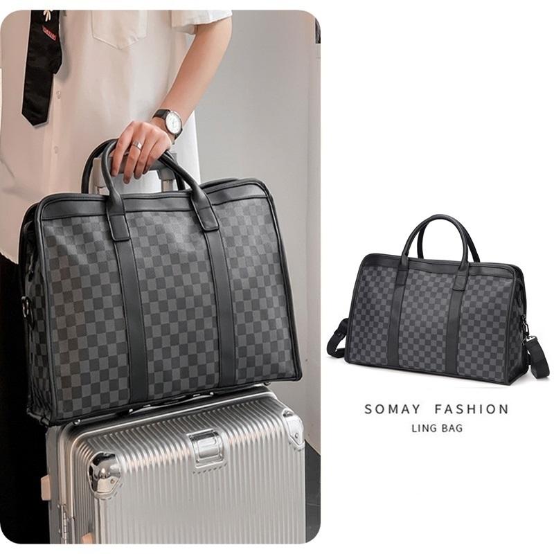 Travel Bag Fashion LV Α FG Η Mens checkerboard one shoulder fitness bag large capacity luggage portable travel bag