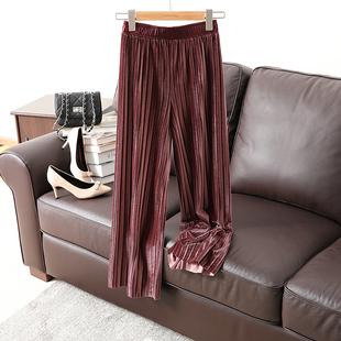 亏本!显瘦又舒服时髦压褶九分裤