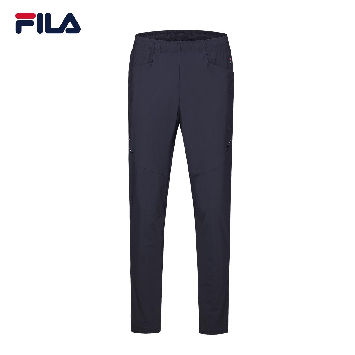 FILA斐乐男2018夏季新款时尚休闲运动舒适针织长裤|F11M827601F