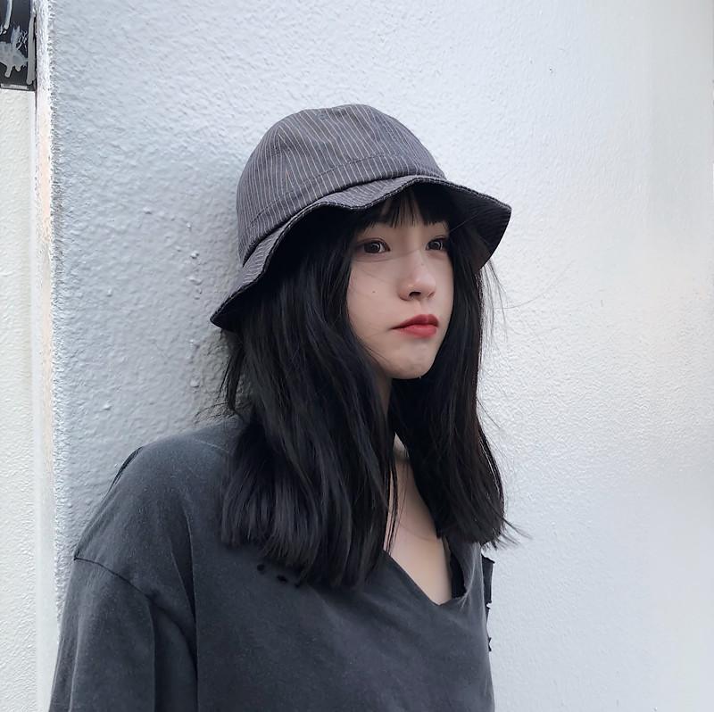 丁走走/可愛日本條紋圓頂漁夫帽女夏季戶外遮陽帽休閑百搭盆帽男