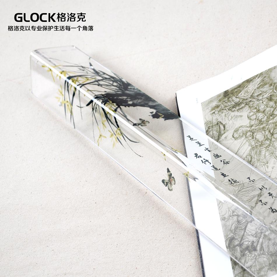 格洛克亞克力護牆角護角條 打孔 粘貼防撞條貼護角線條 梅蘭竹菊