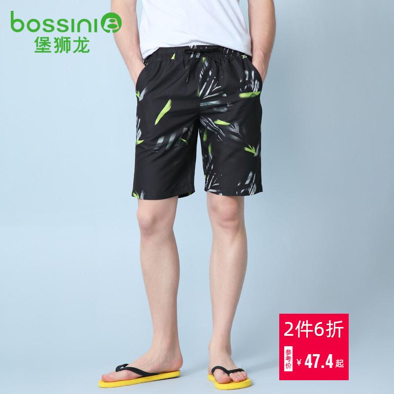 堡狮龙19夏季男装沙滩裤图案短裤子男休闲41132500079.00元包邮