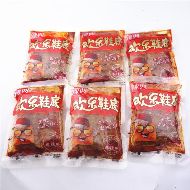 辣典欢乐鞋底辣条500g 江西特产小吃豆皮辣丝辣棒小包装 爆辣味
