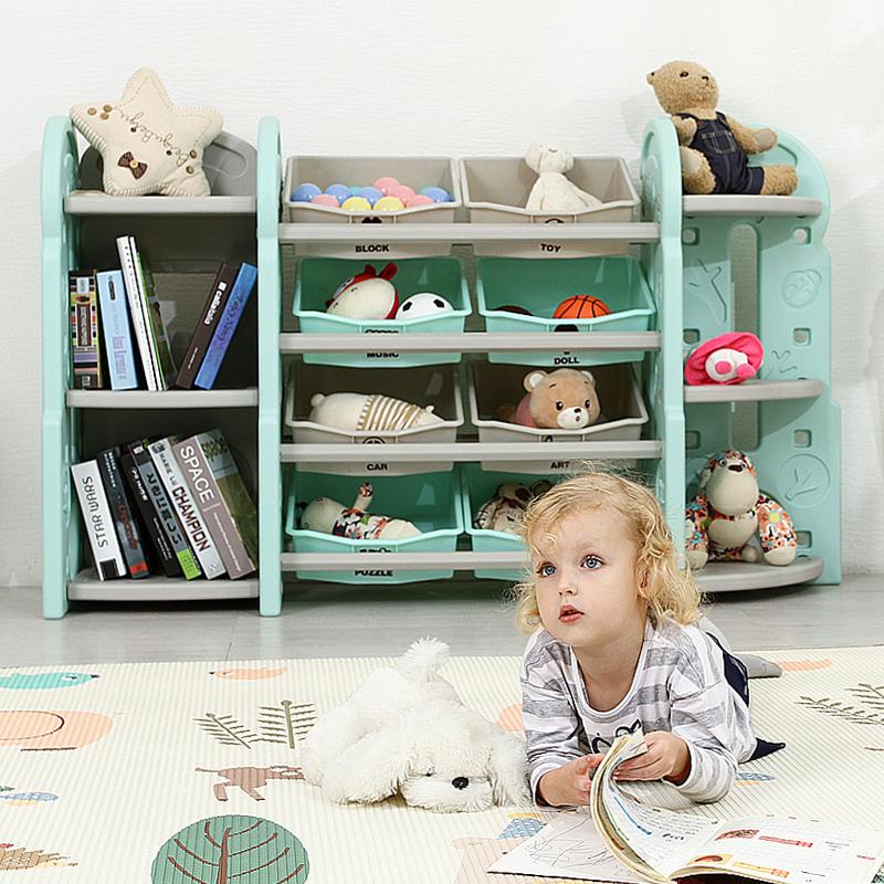 Детские Игрушечный ящик для хранения детского сада детские Отделочные шкафы для мультфильмов, многофункциональные полки для хранения, пластиковые шкафы