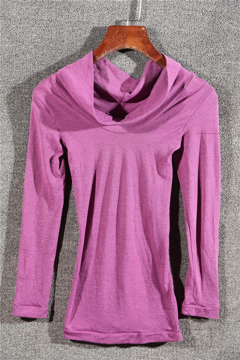 Весной 2016 новых женщин длинный рукав футболка случайные тонкий похудения моды дамы водолазка рубашка AI72