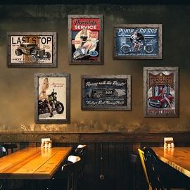 纽约公寓创意餐厅挂画个性酒吧咖啡馆复古家居壁饰工业风墙面装饰图片