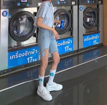 ins潮泫雅同款纯棉春夏韩版袜子