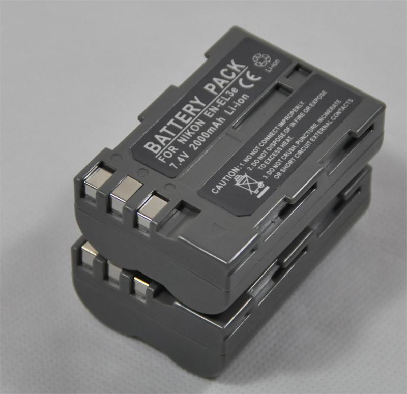 包邮EN-EL3E 2个锂电池代尼康相机D90 D80  D70s D300s D300 D100