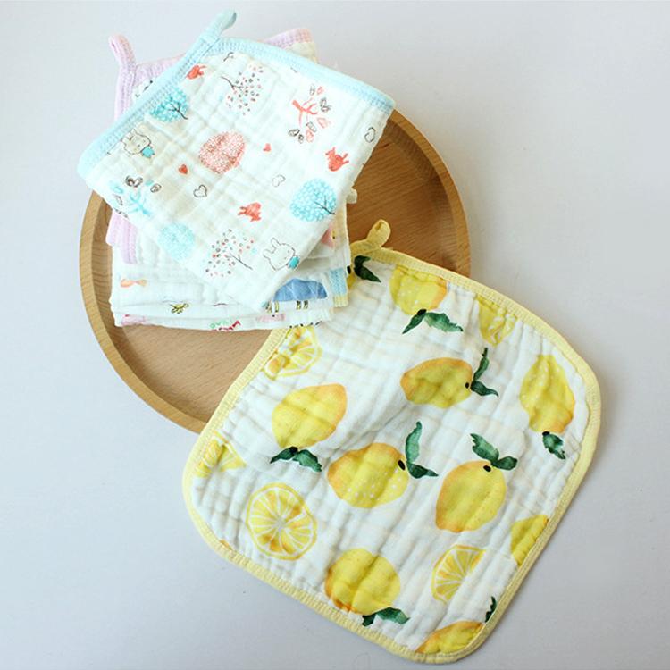 【清仓】柔软纱布口水方巾 婴儿口水巾宝宝手帕擦嘴面巾无荧光