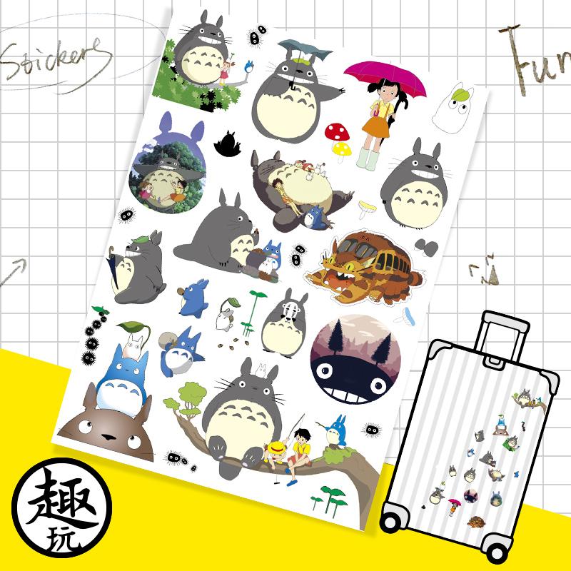 卡通龙猫贴画旅行箱贴纸个性笔记本行李箱贴滑板吉他拉杆箱贴99