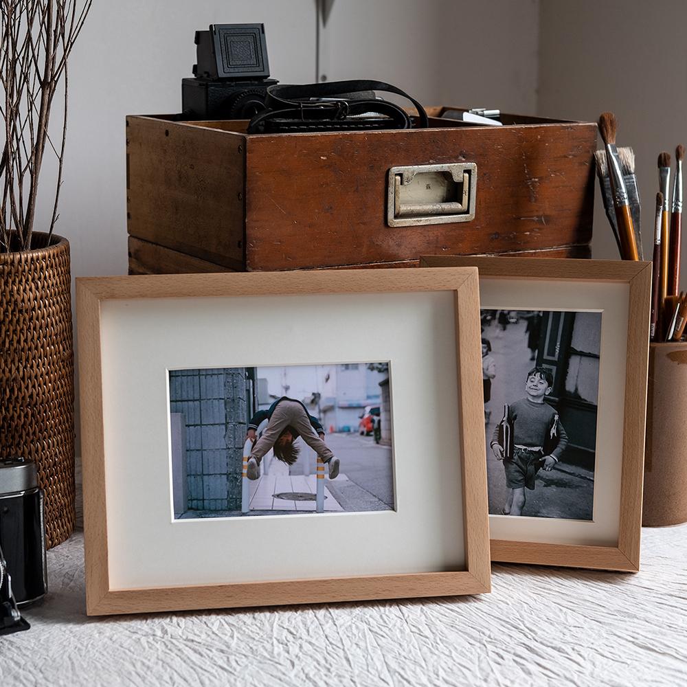 山里创意装裱木质摆台免费打印洗照片优质实木小相框简约原木画框满87.39元可用8.79元优惠券