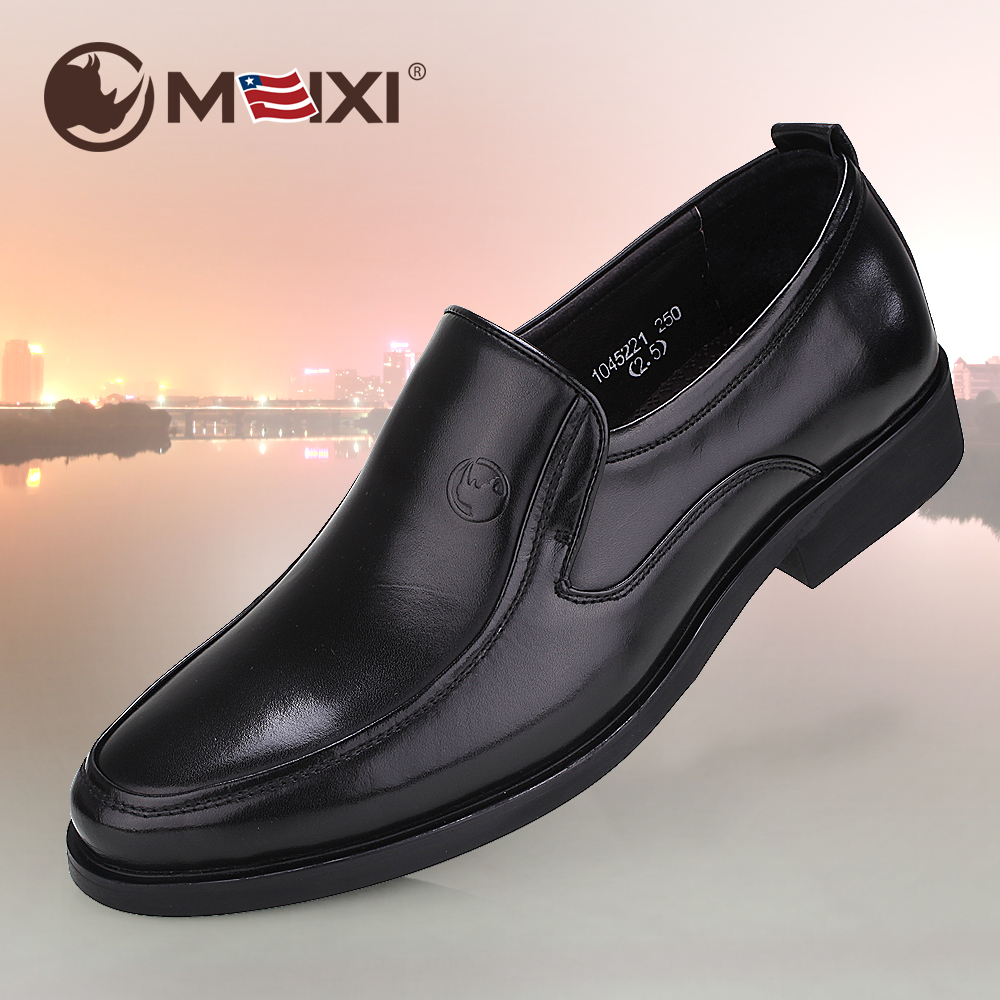 American rhino British business formal leather shoes mens leather air tight feet mens shoes authentic mens round head work shoes